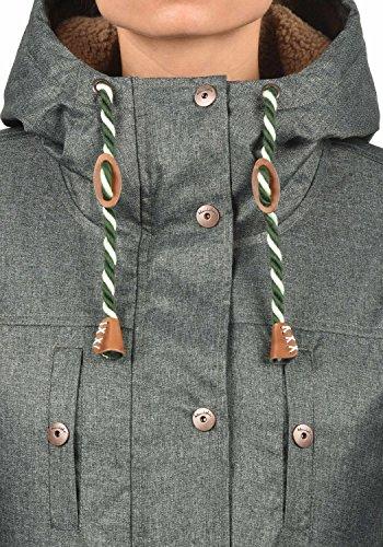 Blend SHE Dale Damen Winter Jacke Parka Mantel Winterjacke gefüttert mit Teddyfutter und Kapuze, Größe:XS, Farbe:Duffle Bag Green (77019) - 5