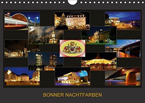 Preisvergleich Produktbild BONNER NACHTFARBEN (Wandkalender 2018 DIN A4 quer): Nachtaufnahmen der schönen Stadt Bonn (Monatskalender, 14 Seiten ) (CALVENDO Orte) [Kalender] [Apr 01, 2017] Bonn, BRASCHI