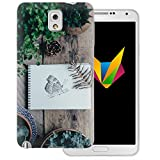 dessana Frühling transparente Silikon TPU Schutzhülle 0,7mm dünne Handy Soft Case für Samsung Galaxy Note 3 Schmetterling Garten