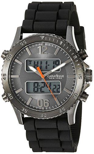 Caravelle New York Men's 45B132 Analog-Digital Display Analog Quartz Black Watch