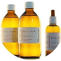 Preisvergleich für PureSilverH2O 1100ml Kolloidales Silber (2X 500ml/25ppm) + Pipettenflasche (100ml/25ppm) Reinheit & Qualität seit...