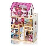 Baby Vivo Casa de Muñecas Rosalie de Madera con Accesorios