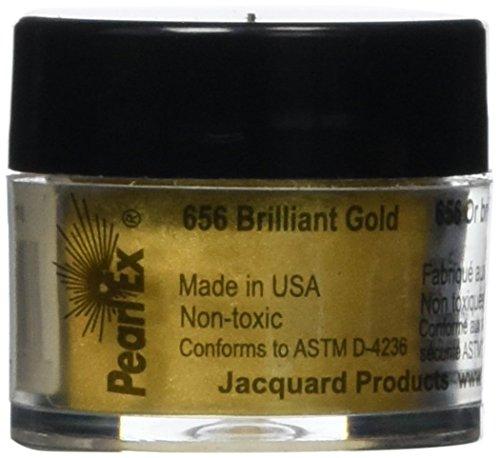 Jacquard Pearl EX gepudert Pigmente 3grams-metallics–Antik Bronze Brilliant Gold