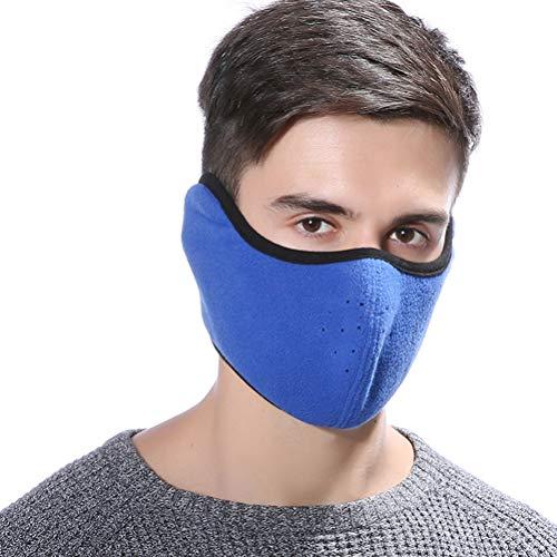 VORCOOL Winddicht Staub Ski Maske Winter Motorrad Halbe Gesicht Mund Wärmer Fleece-Maske Halbe Gesichtsmaske für Frauen Männer Jugend Snowboard Radfahren (dunkelblau)