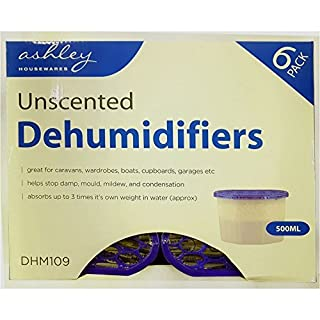 PACK OF 6 Unscented 500ml Household DEHUMIDIFIERS