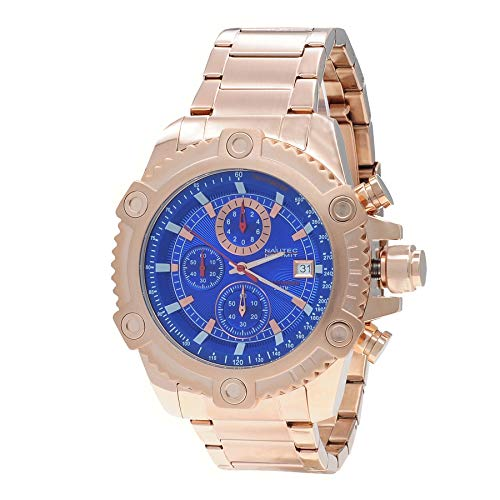Nautec No Limit Mens Chronograph Quartz Watch with Stainless Steel Strap RPLS-QZ RG-BL