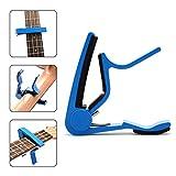 6Saiten Akustik- und E-Gitarre Capo Akustik- und E-Gitarre Capo, Kapodaster auch für Ukulele, Banjo, Bass, Mandoline blau