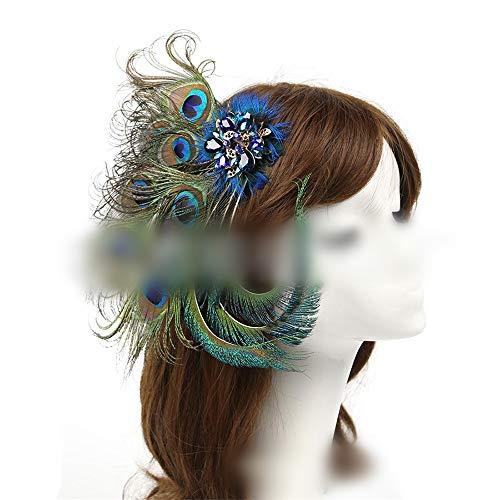 auenfedern Vintage Brautkleid Dekoration Zubehör Bühne Catwalk Zeremonie Bankett Tiara Haarnadel (Farbe ()