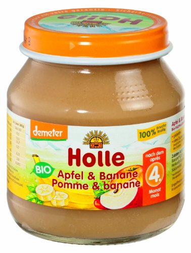 Holle Apfel & Banane, 6er Pack (6 x 125 g) - Bio