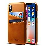 Rssviss iPhone XS Hülle Handyhülle für iPhone X Handyhülle Brieftasche [2 Kartenfächer ]...