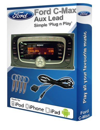 FORD C-MAX Ford Autoradio Sony aux Adaptateur AUX Pour Joue Android iPod iPhone Lecteur MP3