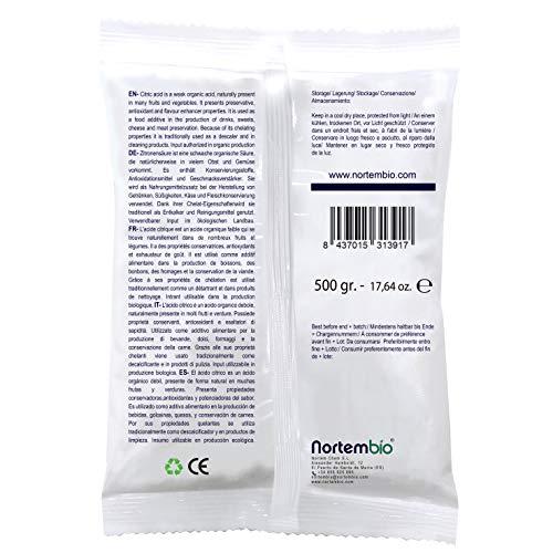 01e6273ce91 NortemBio Acide Citrique 1 Kg (2x500g). La Meilleure Qualité ...
