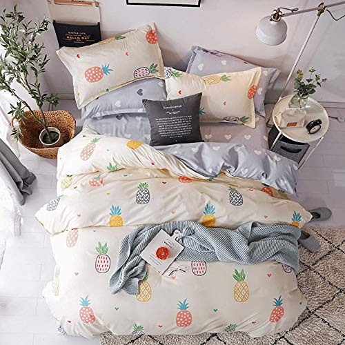 muzi928 Flowers Soft Bedclothes Flat Bed Sheet Bedding Set King Queen Full Twin Size Duvet Cover Bedclothes Linens-pillowcase150*200cm -