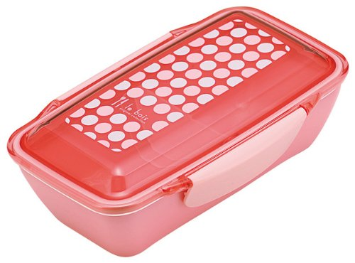 LE BOIS dot dome lunch box Rose 658 669 (japan import)