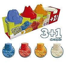 Goliath - Super Sand 3 pots + 1 gratuit - Loisir créatif - Sable à modeler - 83790.012