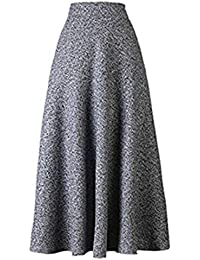 40085ffa2dcf Suchergebnis auf Amazon.de für: Wollrock grau - Maxi / Röcke / Damen ...