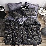 EASON Bettbezug, Heimtextilien Bettwäsche Quilt Pillowcase ist Nicht leicht zu Pilling Abdeckung Bettbezug Bettdecke 229 * 260cm Pillowcase 50 * 91cm2