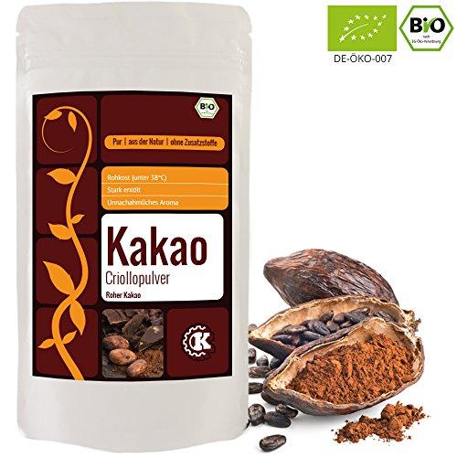 Kakaopulver (Edelkakao) Bio - 500g - Rohes Kakao Pulver - Criollo - stark entölt- aus der Dominikanische Republik