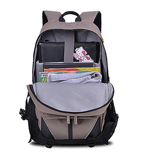 YAAGLE Rucksack Laptoptasche Sommer Schüler Schultasche Freizeit Lovers Schultertasche Reisetasche Gepäck-khaki(15zoll) schwarz(17zoll)