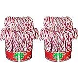 Candy Stöcke rot-weiß 72x14g in der Dose Zucker-stangen (2er Pack)