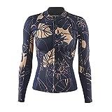Patagonia R1 Lite Yulex L/S Camiseta, Mujer, Verde (Valley Flora Rosewater), 8