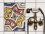 creatisto Bad Küche Fliesensticker Aufkleber Folie   Fliesen-Deko Küchenfliesen Fliesenmuster Badezimmer-Deko   15x20 cm Muster Ornament Spanish Tile 6-4 Stück