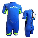 SKINFOX YOUNGSTER Kinder Strandanzug Neoprenanzug Schwimmanzug Shorty blau-grün Gr.1(87,5cm)-6(132cm)
