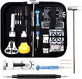 Eventronic Uhrenwerkzeug Set, Uhr Reparatur Uhrmacherwerkzeug Uhr Werkzeug Tasche Watch Tools in Schwarze Nylontasche