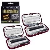 Vorteils-Paket: Strider 2 Stück Taschenwärmer Handwärmer für die Tasche + 12 Stück Nachfüll-Kohlestäbchen