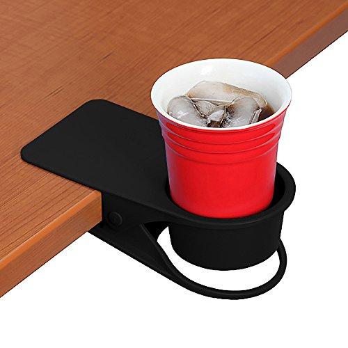 Hollihi Boisson Porte-gobelet Clip – Table côté support pour boissons Soda Mug à café de thé d'eau Bouteille Gobelet Soucoupe Clip Design de rangement pour Fournitures de bureau pour Home Office