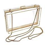 Changlesu Luxus Acryl Modische Transparente Abend Kupplungen Schultertasche Handtasche für Frauen Damen Geschenk Ideal (Löschen)