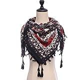 HAZVPO Winter-Schal-Schal-Muster-Weibliche Schals, Die Weichen Damen-Quadratischen Schal Verdicken -