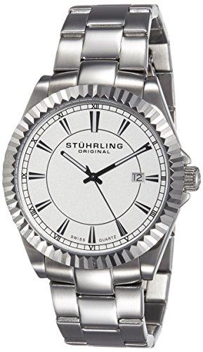 51DnCMgKhiL - Stuhrling Original Silver Mens 408G.33112 watch
