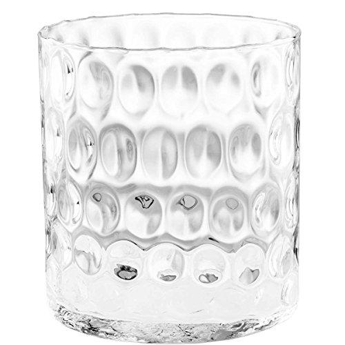 Butlers Agata Zylinder Vase mit Struktur - Glas-Vase Eckig Blumen Deko