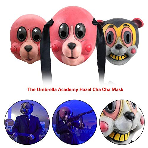 Halloween Party Cosplay Maske Kreative Form Helm Kopfbedeckung Prop Die Umbrella Academy Hazel Cha Cha Maske