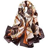 Trillion® - Sciarpa in seta da donna, leggera, 172,7 x 109,2 cm