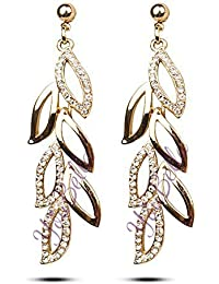Valentine Gifts : YouBella Jewellery Valentine Collection AAA Swiss Zircon Fancy Party Wear Earrings for Girls and Women