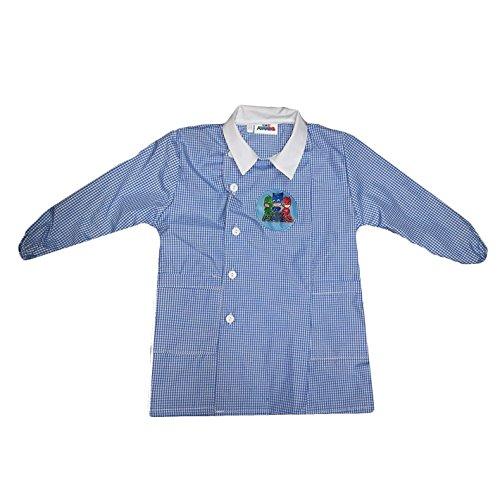 Grembiule scuola bimbo elementare con bottoni pjmasks collezione 2018/2019 art. g032 (azzurro, 50)
