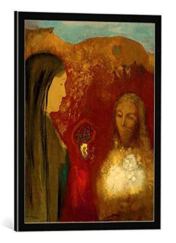 quadro-con-cornice-odilon-redon-le-christ-et-la-samaritaine-le-bouquet-blanc-stampa-artistica-decora