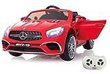 Jamara 460294 Ride-on Mercedes SL65 rot 12V-Softanlauf, 2-Gang, Stoßdämpfer, SD-Slot, AUX-und USB-Anschluss, LED, Hupe, bis zu 90 Min. Fahrzeit, Ultra-Gripp Gummiring
