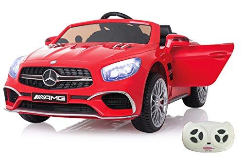 Jamara 460294 Ride-on Mercedes SL65 rot 12V-Softanlauf, 2-Gang, Stoßdämpfer, SD-Slot, AUX-und USB-Anschluss, LED, Hupe, bis zu 90 Min. Fahrzeit, Ultra-Gripp Gummiring*