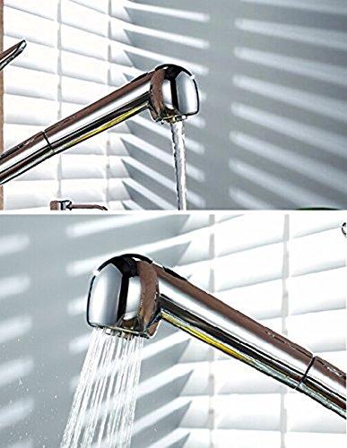 Inchant Ersatz Multi Function zieht Spray-Head 2 Spray Einstellungen Duschkopf Chrom-Finish für Küche-Bad-Bassin-Wannen-Mischer-Hahn-Hahn - 3