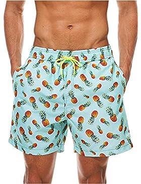 YwoolyJn Bañador Pantalón Corto Verano Pantalón Sport Casual Playa Secado Rápido Bañador, Hombre, c, DE M/Label L