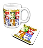 Beatles Gelb submarine Sea of Science Nue Kaffeetasse and Untersetzer Gift set