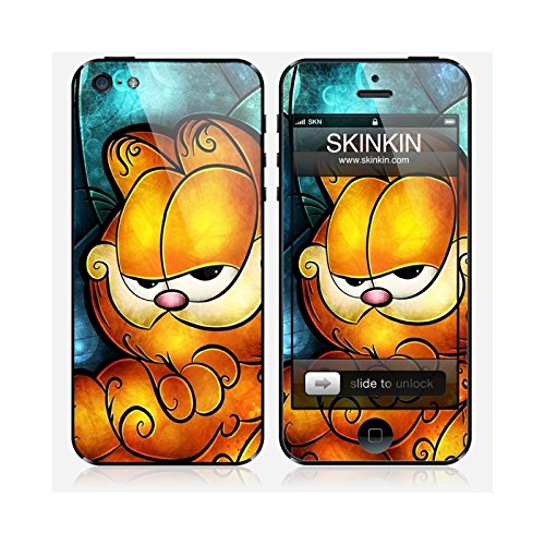 Coque iPhone 5 et 5S de chez Skinkin - Design original : Garfield par Mandie Manzano Skin iPhone 5
