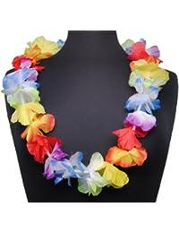 Immerschön Hawaii-Kette Blumenkette in vielen Farb-Variationen Sommer Party Fasching Karneval