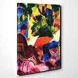 Arty Pie Leinwanddruck 101,6x 71,1cm (100x 70cm) August Macke bei der Gartentisch, Holz, mehrfarbig, 101x 71x 3cm