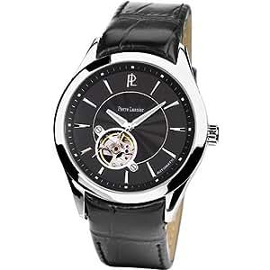Pierre Lannier - 305B133 - Pl Collection - Montre Homme - Automatique Analogique - Cadran Noir - Bracelet Cuir Noir