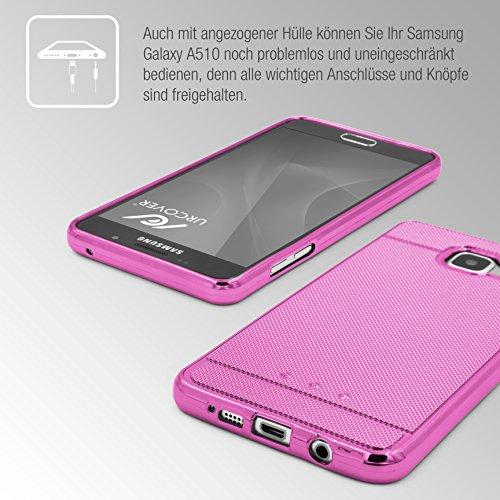 Urcover® Apple iPhone 6 / 6s Back-Case Handy Schutz-Hülle Metall Optik Silikon in Rosa TPU Cover Smartphone Zubehör Tasche flexible Ultra Slim Handyhülle Rosa
