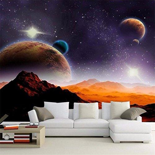 Lqwx Benutzerdefinierte Fototapeten Planet Mars Kosmologie Landschaft Ktv Hintergrund 3D Wallpaper 3D Wohnzimmer Wallpaper Murals-300Cmx210Cm